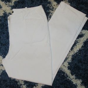Worthington Slim Fit White Crop Slacks Size 8